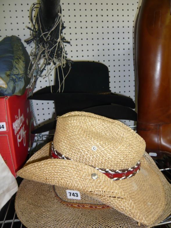 70bf488ef6e15 Bainbridges   Six western cowboy hats including two black felt by ...