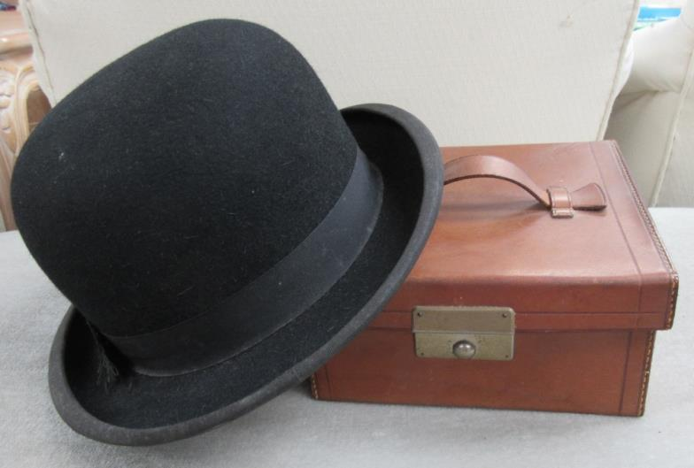 Jubilee Auction Rooms   A Herbert Johnson bowler hat and a square ... 9f0dabc18af