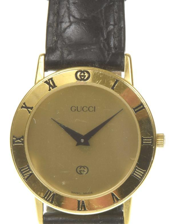 5af8da3bcde Gucci  A ladies gold plated 3000J quartz wristwatch The gold tone signed  sial