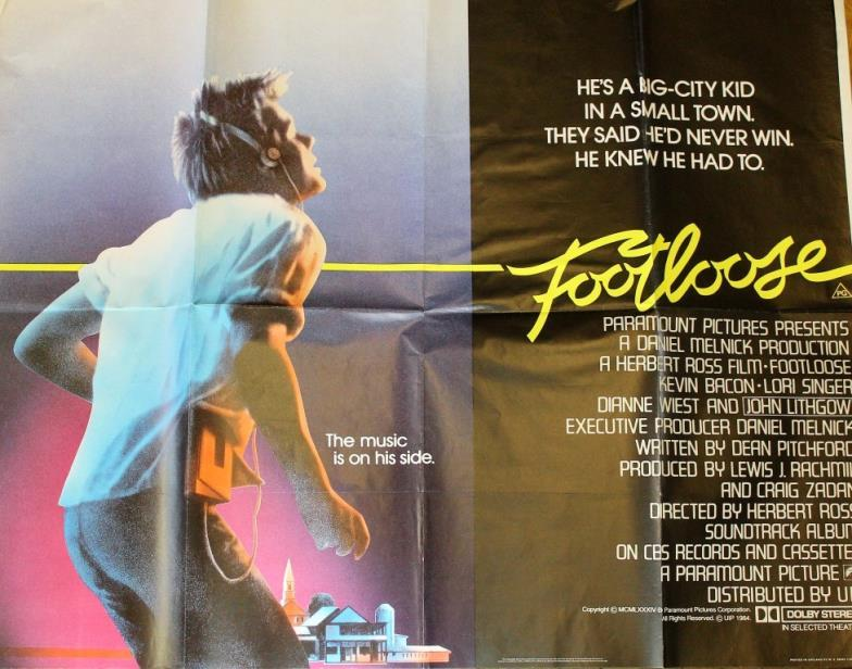 Wright Marshall Knutsford Footloose 1984 Quad Poster 30x40in
