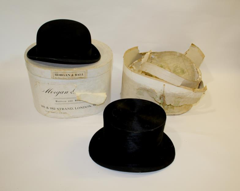 c8417baaf6bae Lawrences Auctioneers (Crewkerne)   BOXED TOP HAT   BOWLER HAT a ...