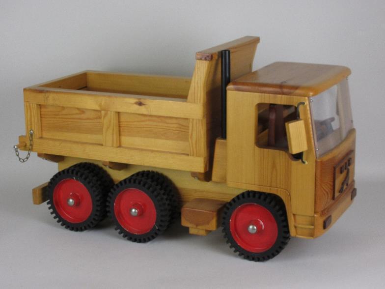 Brightwells A Wooden Model Of A Man Six Wheel Tipper Truck 2ft