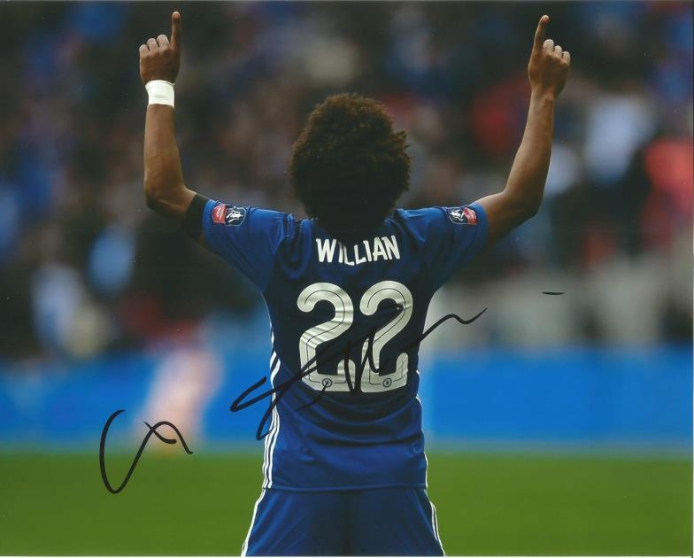 d6ed7a238 Willian Signed Chelsea Football 8x10 Photo. Good Condition. All signed  items come with our certificate