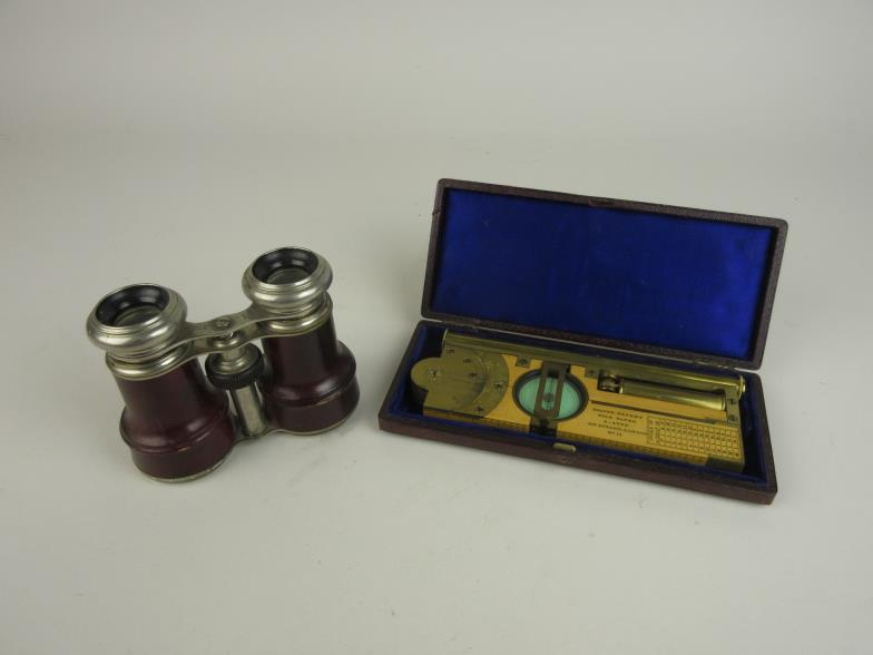 Brightwells : A brass and wooden Compass/Clinometer by Alfred Apps