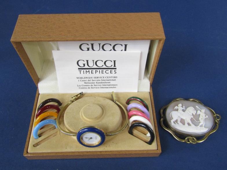 248ccfd1e7b Wotton Auction Rooms Ltd   Vintage Gucci ladies bangle watch